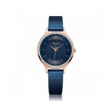 Đồng hồ nữ Julius Hàn Quốc JA-1060D dây thép xanh