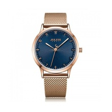 Đồng hồ nữ Hàn Quốc Julius dây thép JA-1075D đồng mặt xanh