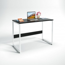 Bộ bàn làm việc CZN-Havant gỗ tự nhiên sơn đen chân trắng và ghế eames trắng - COZINO
