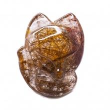 Mặt dây chuyền hồ ly thạch anh tóc nâu đỏ PDFRRQ02 - Vietgemstones