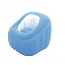 Ghế hơi hình bánh - màu xanh -75046
