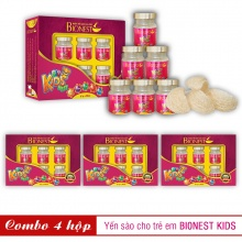 4 Hộp yến sào Bionest Kids cao cấp - Quà tặng cho bé biếng ăn