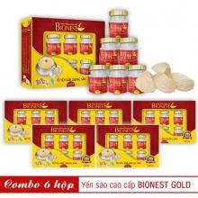6 Hộp yến sào Bionest Gold cao cấp - hộp quà tặng 6 lọ