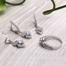 EROPI-Bộ trang sức bạc Alena Beautiful