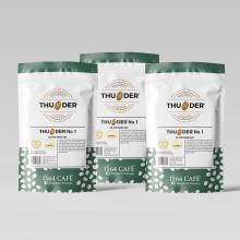 Combo 03 bao cà phê hạng 1 sàng 18/64 in (tcvn 4193:2014) thunder no.3 (bột) tổng khối lượng tịnh 660g
