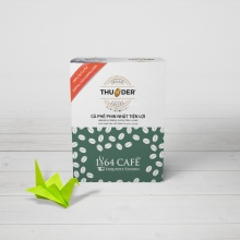Combo (04 hộp x 5 gói x 12g) cà phê doanh nhân thunder origami 01 thương hiệu 1864 CAFÉ®.