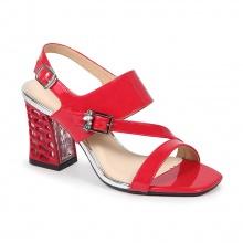 Giày sandal gót tổ ong (s07016 - đỏ)
