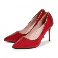 H09004 - Giày cao gót trơn (đỎ)