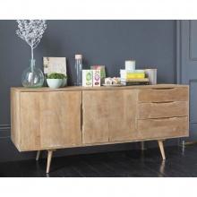 Tủ trưng bày Trocadero gỗ tự nhiên - Cozino