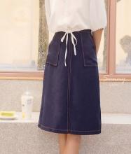 Chân váy 2 túi chỉ nổi - VN180011