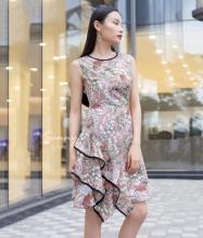 Đầm hoa nơ vai - AD180084