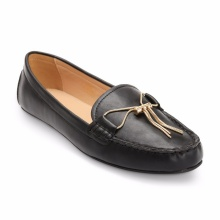 Giày mọi đính nơ S19252 - đen
