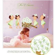 Decal dán tường em bé và hoa EB174