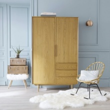 Tủ quần áo Portobello gỗ tự nhiên 1m - Cozino