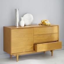 Tủ lưu trữ 1 cánh 3 ngăn  Portobello gỗ tự nhiên - Cozino
