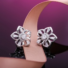 Bông tai bạc Tiffany Flower