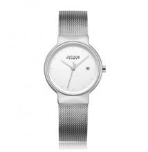 Đồng hồ nữ JS-009LA Julius Star Hàn Quốc dây thép bạc