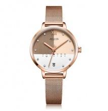 Đồng hồ nữ JA-1100C Julius Hàn Quốc dây thép đồng