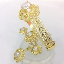 Bộ trang sức bạc mạ vàng 18k - SPB0985