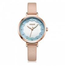 Đồng hồ nữ JA-1098C Julius Hàn Quốc dây da kem