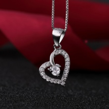Mặt dây chuyền bạc The Heart