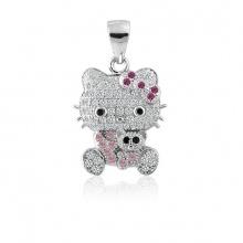 Mặt dây chuyền bạc Hello Kitty