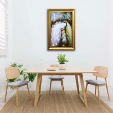Tranh khổng tước - Tranh chim công đẹp W1003 Size XL