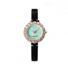 Đồng hồ nữ MS512A Mangosteen Seoul Hàn Quốc dây da (xanh lam)