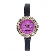 Đồng hồ nữ MS512C Mangosteen Seoul Hàn Quốc dây da (tím)