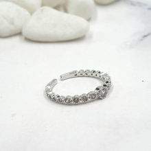 Nhẫn mạ bạc baisiz - Tatiana - NB2433 (Bạc)