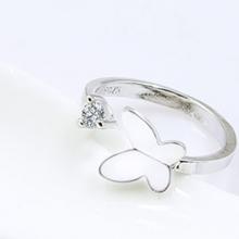Nhẫn bướm đính đá - Tatiana - NB2353 (Bạc)