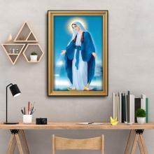Tranh thiên chúa- Tranh đức mẹ maria-W708 Size 50 x 75