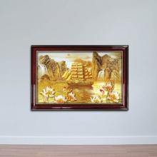 Tranh thuận buồm xuôi gió dát vàng- W799 Size 50 x 75