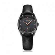 Đồng hồ nữ JS-014LD Julius Star Hàn Quốc dây da (Đen)