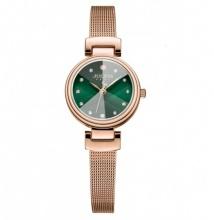 Đồng hồ nữ Julius Hàn Quốc dây thép JA-1020 (đồng mặt xanh)