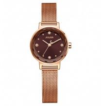 Đồng hồ nữ Julius Hàn Quốc dây thép JA-917 JU1148 (nâu đồng)