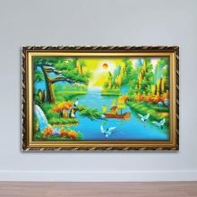 Tranh Sơn thủy hữu tình - Tranh phong thủy đẹp W970 Size 60 x 90
