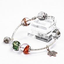 Vòng tay ưu linh đa sắc mix charm bạc Thái BRGQ08M04 - Vietgemstones