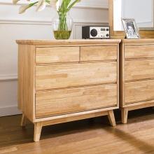 Tủ ngăn kéo Ixora 4 hộc gỗ cao su - Cozino