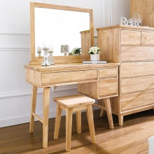 Bộ bàn trang điểm IXORA gỗ cao su - Cozino