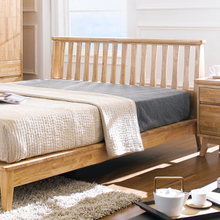 Giường đôi Ixora gỗ cao su 2m0 - Cozino