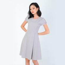 Đầm xòe thời trang Eden tay nơ xẻ tà - D318