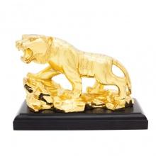 Quà tặng sếp cao cấp - Tượng hổ phong thủy mạ vàng 24K size lớn