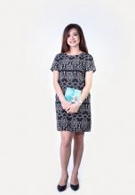 Đầm suông họa tiết HK 545