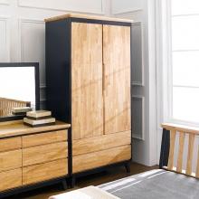 Tủ quần áo Lantana gỗ cao su 1m4 - Cozino