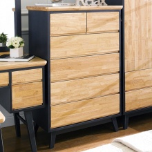 Tủ ngăn kéo đứng Lantana 6 hộc gỗ cao su - Cozino