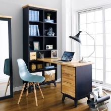 Bộ bàn làm việc và kệ sách Lantana gỗ cao su - Cozino