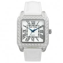 Đồng hồ nữ chính hãng Royal Crown 6104 dây da trắng