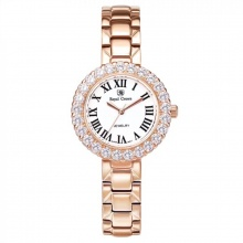 Đồng hồ nữ chính hãng Royal Crown 6305 dây thép vỏ vàng hồng