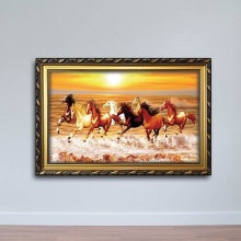 Tranh con ngựa bách chiến bách thắng - W741 size 40x60 cm